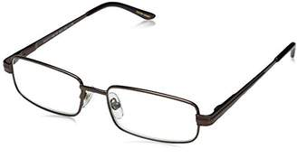 Foster Grant Men's Axton 1017900-100.COM Rectangular Reading Glasses