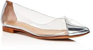 Schutz Women's Clearly Pointed Toe See-Through Flats