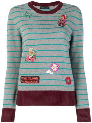 Etro embroidered striped sweater