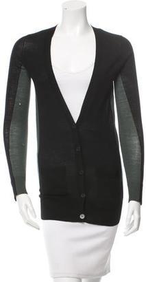 Vera Wang Wool Bi-Color Cardigan $95 thestylecure.com