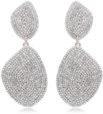 Monica Vinader Nura Double Teardrop Cocktail Earrings
