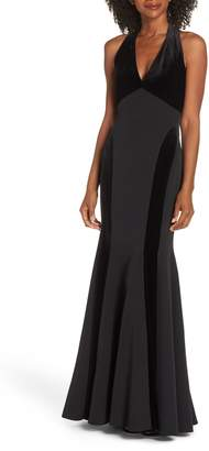 Vince Camuto Halter Gown