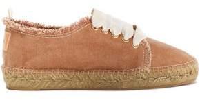 Castaner Kosario Appliquéd Frayed Canvas Sneakers