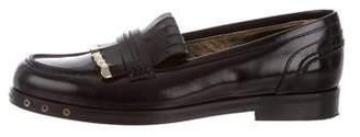 Lanvin Leather Kiltie Loafers