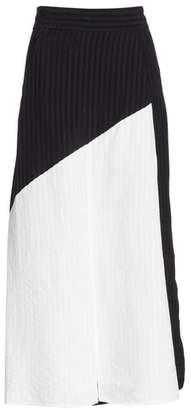 Zero Maria Cornejo Mosa Colorblock Midi Skirt
