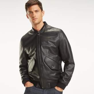 Tommy Hilfiger TOMMYXMERCEDES-BENZ Leather Racing Jacket