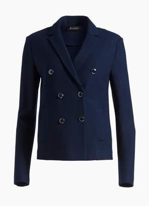 St. John Sarga Knit Twill Double Breasted Jacket