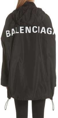 Balenciaga Back Logo Windbreaker Jacket