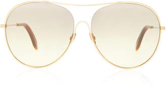 Victoria Beckham Loop Aviator-Style Metal Sunglasses
