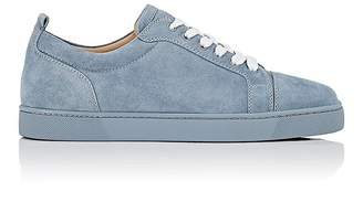 Christian Louboutin Men's Louis Junior Flat Suede Sneakers