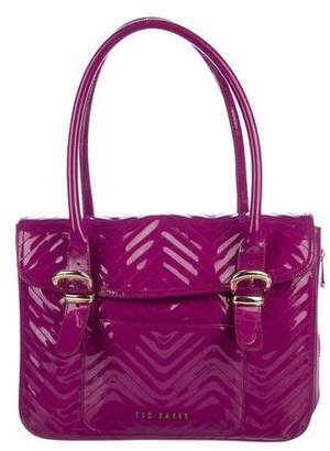 Ted Baker Quilted Patent Leather Shoulder Bag