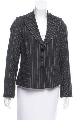 Armani Collezioni Striped Wool Jacket