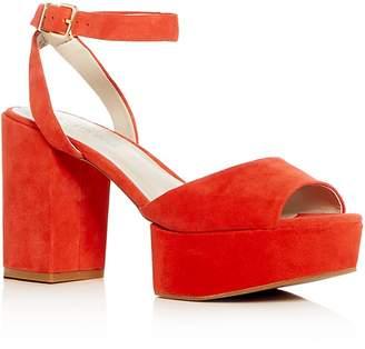 Kenneth Cole Women's Phoenix Suede High Block Heel Platform Sandals