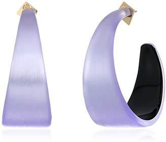 Alexis Bittar Womens Wide Graduated Medium Hoop Earrings
