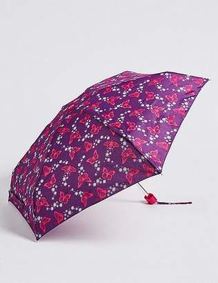 """Marks and Spencer Butterfly Print Compact Umbrella with Stormwearâ""""¢"""