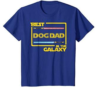 Mens Gift Best Dog Dad in the Galaxy Funny Dog T-Shirt