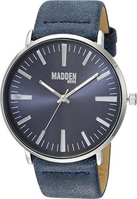 Steve Madden Men's SMMW006NB Analog Display Japanese Quartz Blue Watch