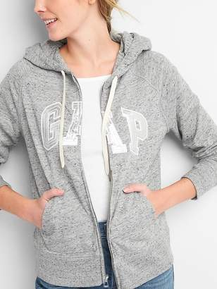 Gap Metallic Logo Zip Hoodie in French Terry