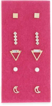 Berry Jewelry Glitter Pouch & Stud Earrings Gift Set, Black