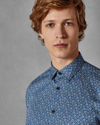 Ted Baker THORNTO Floral print cotton shirt