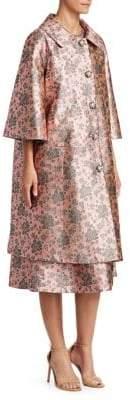 Erdem Sorayah Metallic Floral Coat