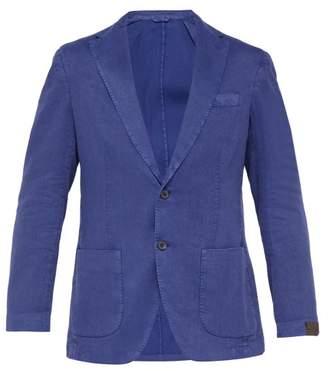 Altea Patch Pocket Linen Blend Blazer - Mens - Blue
