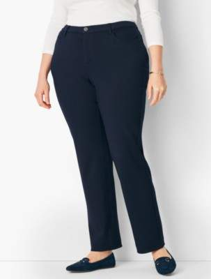Talbots Plus Size High-Rise Straight-Leg Pant - Curvy Fit/Ponte