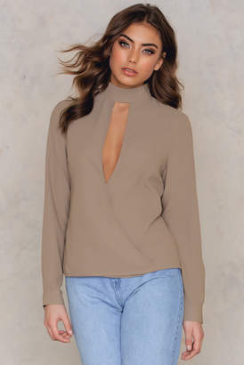 NA-KD Na Kd Wrapped Cut Out Blouse
