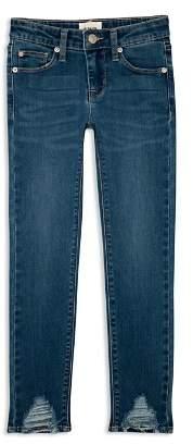 Hudson Girls' Asami Ankle Skinny Jeans in Blue - Big Kid