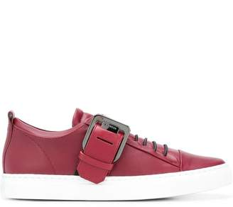 Lanvin buckled low top sneakers