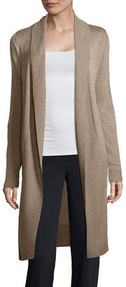 WORTHINGTON Worthington Long Sleeve Open Front Cardigan