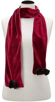 Joe Browns Red Alluring Velvet Bow Scarf