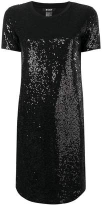 DKNY sequinned shift dress