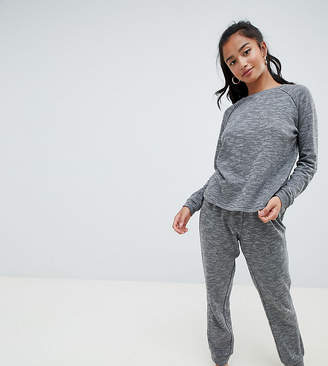 Asos DESIGN Lounge Petite sweat and jogger set