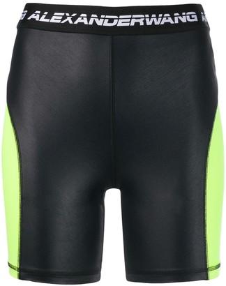 Alexander Wang logo cycling shorts