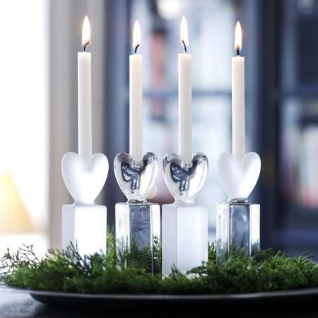Holmegaard - heart candlesticks by anja kjær for holmegaard