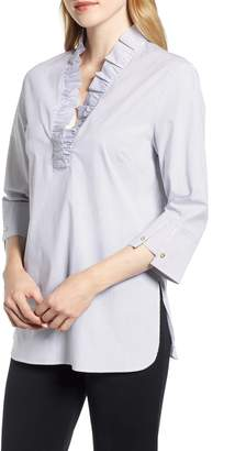 Ming Wang Ruffle Neck Shirt