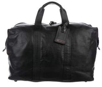 Tumi Leather Duffel Bag