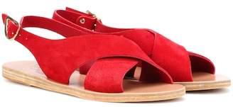Ancient Greek Sandals Maria suede sandals