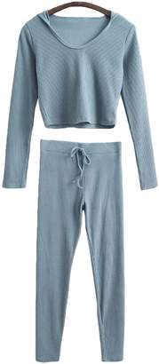 Goodnight Macaroon 'Danell' Cropped Hoodie and Raw Hem Bottoms Lounge Set (5 Colors)
