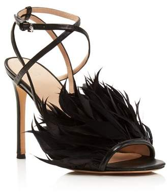 Pour La Victoire Women's Elexi Feather Embellished High-Heel Sandals