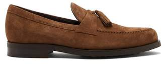 Tod's Tasselled Suede Penny Loafers - Mens - Tan