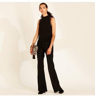 Amanda Wakeley Black Sculpted Flared Trousers
