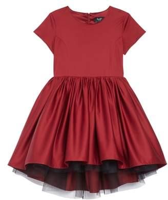Bardot Junior Evita High/Low Satin & Tulle Dress