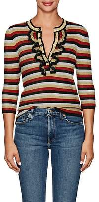 Philosophy di Lorenzo Serafini Women's Striped Metallic-Knit Top