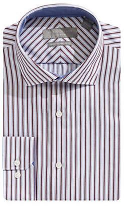 Perry Ellis Slim-Fit Striped Cotton Dress Shirt