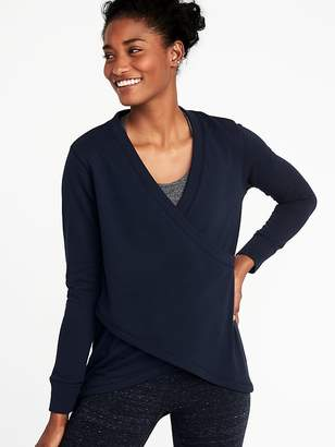 736ec993c03 Old Navy Relaxed French-Terry Cross-Front Sweatshirt for Women