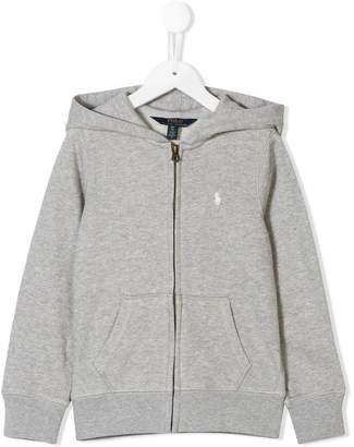 Ralph Lauren logo embroidered zipped hoodie