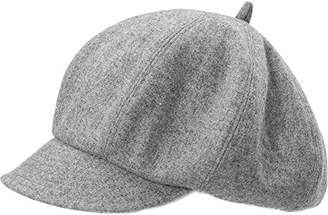 Cloche Jeff & Aimy Newsboy Cap for Women 51% Wool Winter Hat Ladies Visor Beret Hats Cold Weather Hat Lined Grey Gray