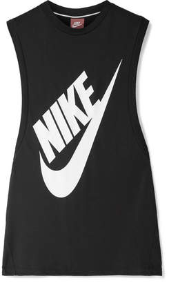 Nike Essential Printed Stretch-jersey Tank - Black